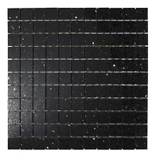 Sample Black Quartz Mirror fleck Mosaic Tiles ( Starlight )