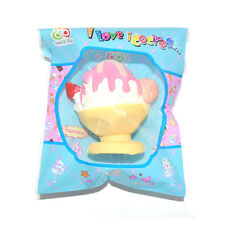 1PCS Kawaii Squishy Cup Ice Cream Slow Rising Cake Scented Soft Sweet Dessert