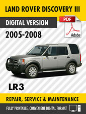 2005 - 2008 LAND ROVER DISCOVERY III LR3 FACTORY REPAIR SERVICE MANUAL WORKSHOP