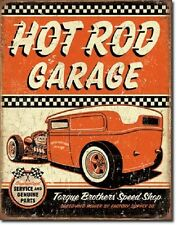 Hot Rod Garage Torque Brothers Speed Shop ad tin sign poster vtg wall decor 2106
