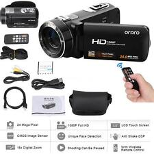 "ORDRO HDV-Z8 1080P HD 24MP 16× 3.0"" LCD Digital Video Camera+Face Detection L7G0"
