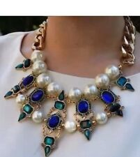 Azul Verde Perla Collar Zara Bloggers Favorito
