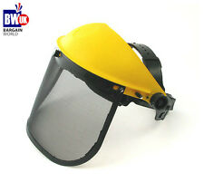 MESH SAFETY VISOR FULL FACE SHIELD EYE PROTECTION SHREDDER GARDENING HELMET S4