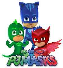"PJ Masks Iron On Transfer 5 ""x 5.5"" for LIGHT Colored Fabric"
