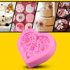 Cocina Herramienta Amor Corazón En forma de Rose Flor Molde Azúcar CRAFT Pastel
