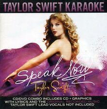 TAYLOR SWIFT SPEAK NOW Karaoke CD & DVD NEW