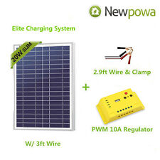 High-Quality 20W Poly-Crystalline Solar Panel Charger Kit for 12V Battery