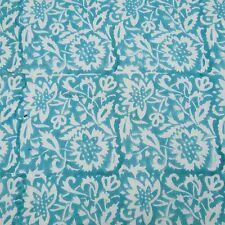 Indisch Blaue Baumwolle-Voile-Stoff Hand Block Craft Gewebe By The Metre