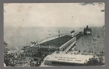 [62545] VINTAGE SHIP POSTCARD THE PIER AND THE PEOPLE AT CRYSTAL BEACH, CANADA