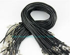 Wholesale 10 Pcs Leather Chains Necklace Charms Findings String Cord 1-2 mm