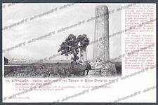 SIRACUSA CITTÀ Cartolina 14. Serie CASA DEI VIAGGIATORI Edizione inizio '900