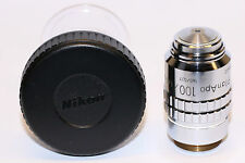 Nikon CFN PlanApo 100X/1.40 160/0.17 Oil microscope objective; Great condition