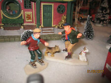 "TRAIN GARDEN VILLAGE HOUSE CARNIVAL "" SKATING on THIN ICE "" + DEPT 56/LEMAX info"