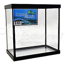 Two Way 1-2 Betta Fish Tank Aquarium w/Dividers, Glass Canopy & Handle Deep Blue