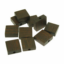 10 Flat Square Polish Rose Wood Beads size 15mm ideal for Jewellery Making