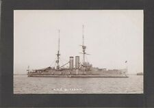REAL-PHOTO POSTCARD: HMS BRITANNIA - BRITISH ROYAL NAVY WW-1 BATTLESHIP - Unused