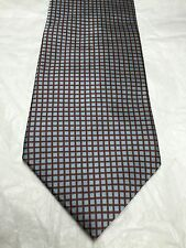 DKNY MEN'S TIE BLUE WITH RED SQUARES 60.5 X 4