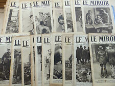 LOT DE REVUES LE MIROIR 36N° 1916