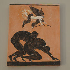 Nude Ancient Greek Olympic Games wrestlers athletes plaque FRESCO reproduction