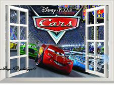 3D Disney Cars Racing Pixar Mcqueen Wall Stickers Kids Art Decal Mural Removable
