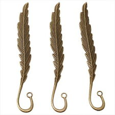 20x 160551 New Bronze Plated Feather Vintage Alloy Bookmarks For Beading 11.8cm