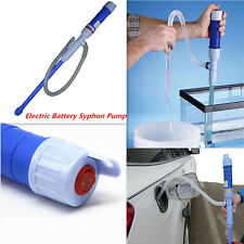 Car Auto Diesel Fuel Water Electric Battery Syphon Powered Hand Pump Transfer