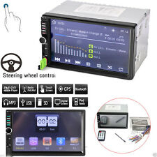 "7"" Android 4.4 Double 2 DIN Car Radio Stereo FM MP5 USB Player iPod Bluetooth OY"