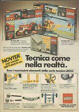 X9175 Lego - Trattore con attrezzi - Pubblicità 1977 - Advertising