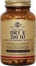 Dry Vitamin E (d-Alpha Tocopheryl Succinate), Solgar, 100 capsule 400 IU