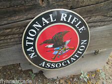NATIONAL RIFLE ASSOCIATION OF AMERICA NRA 1871 RAISED LETTERS METAL SIGN