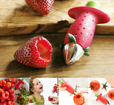 Strawberry Stem Leaves Huller Remover Removal Fruit Corer Kitchen Gadgets Tool