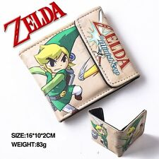 Cool Legend of Zelda link Man&Woman Cosplay Leather Wallet Purse Two-Fold Purse