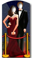 Red Carpet Couple Stand In Cardboard Cutout Figure 186cm Tall - Great for Photos