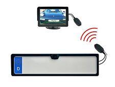 """KFZ Kennzeichenhalter Rückfahrkamera & 4.3"""" Monitor & Funkübertrager"""