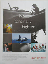 12/2003 PUB SAAB SWEDEN JAS 39 GRIPEN FIGHTER ORIGINAL AD