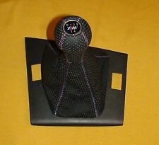 BMW GEAR STICK SHIFT KNOB and BOOT for E46 - BLACK PERFORATED 5 speed,  2 PIECES