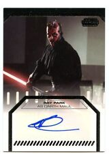 2012 Topps Star Wars Galactic Files Series 1 AUTO - RAY PARK as DARTH MAUL