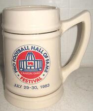 1983 Football HOF ceramic mug Washington Redskins Sonny Jurgensen Browns Giants