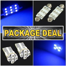 "6x Blue Led Lights For Map 1.72""+ Dome 1.72"" + License Plate Package Deal #A12"