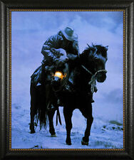 """Winter Save David Stoecklein Western Horse 2.5"""" wide Framed Picture Print Poster"""