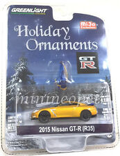 GREENLIGHT 51079 HOLIDAY ORNAMENTS 2015 NISSAN SKYLINE GT-R R35 1/64 CHASE GOLD