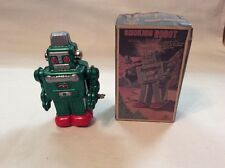 Miniature Tin Wind Up  Smoking Robot,  Made In japan