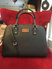 NWT MICHAEL KORS SAFFIANO LEATHER LARGE SATCHEL BAG IN BLACK (SALE!!!)