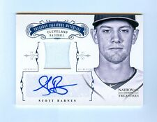 SCOTT BARNES 2012 NATIONAL TREASURES JERSEY AUTO RC #/99
