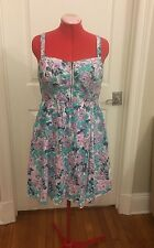Torrid Zip Front Flower Dress Size 14