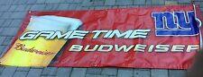 34 X 84 Large Budweiser New York Giants NFL Vinyl Football Beer Banner!