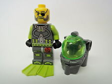 Lego Figur Atlantis Taucher Ace Speedman  atl005  Set 8057 8075 8077