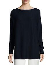 NEW Vince Rib-Stitched Cashmere Sweater- Coastal Size XS