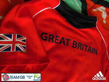 ADIDAS TEAM GB ISSUE -TRAINING FOR RIO 2016- ATHLETE RED  EVENT TEE-SHIRT