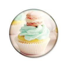 Badge CUPCAKE & MACARON PASTELS gourmandise french cookie yummy pink pop Ø25mm